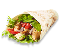 Order Wraps with Maxs Pizza and Peri Peri