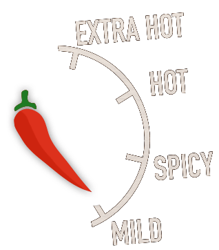 Choose your spiciness on your order with Maxs Pizza and Peri Peri